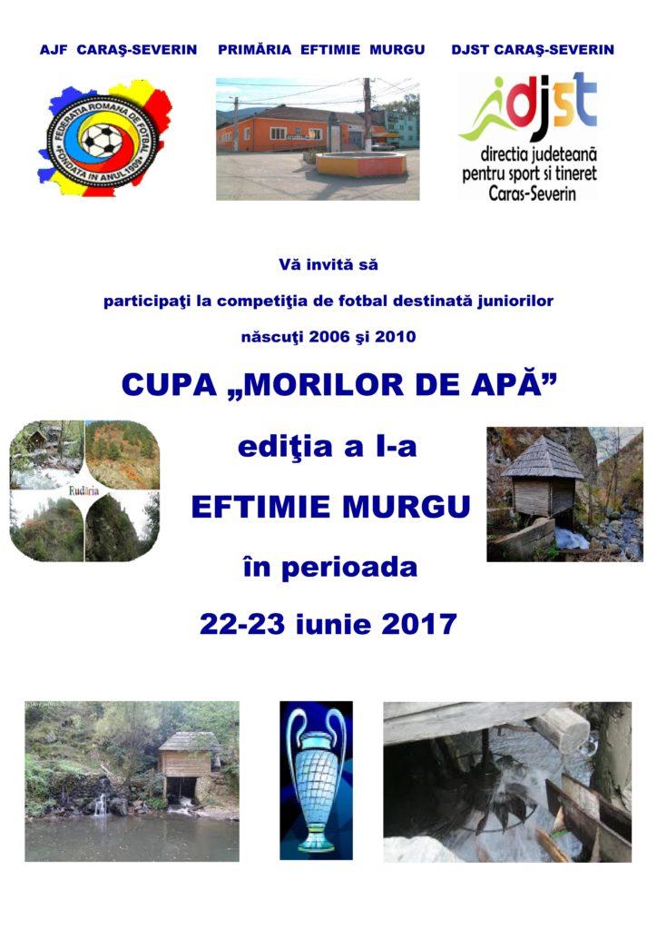 """Cupa """"Morilor de Apă"""" – ediția a I-a – 2017"""
